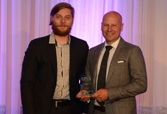 ONLINE VIDEO PRODUCTION WINNER: Tyler Brownbridge, The Windsor Star - sponsored by the Ontario College of Trades
