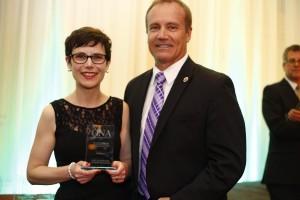 Municipal Affairs (under 25,000 circulation) WINNER: Joelle Kovach, Peterborough Examiner and Carmen Santoro, President, Ontario Professional Fire Fighters Association