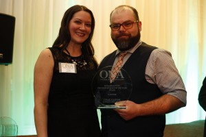 RICHARD SUTTON AWARD PHOTOJOURNALIST OF THE YEAR WINNER: Craig Glover, London Free Press with Amy Dickson, Colleges Ontario