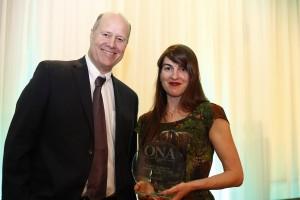 Martha Blackburn Award Journalist of the Year WINNER: Amy Kenny, The Hamilton Spectator with Paul Berton on behalf of Labatt