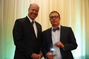 ONLINE MULTIMEDIA SPECIAL PROJECT WINNER: Trevor Wilhelm, Windsor Star with Paul Berton, Editor-in-chief/Hamilton Spectator
